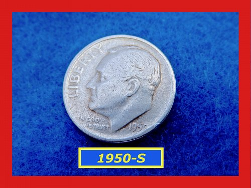 1950-S Roosevelt Dimes  ✬  CIRCULATED Condition   ✬   (#3529)➧