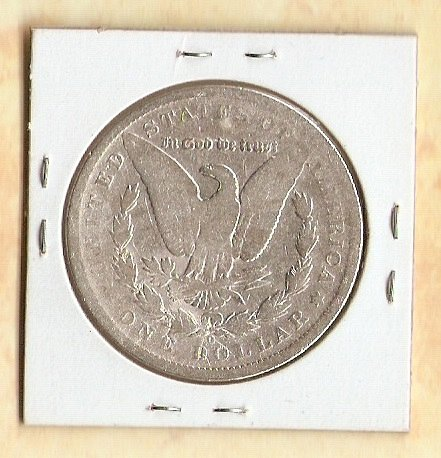 1890 O Morgan Silver Dollar - Cleaned - Good buy bettter date