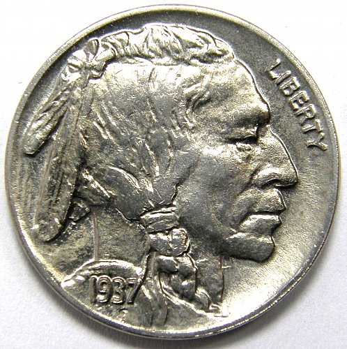 1937 P Buffalo Nickel #2 DIE CLASH