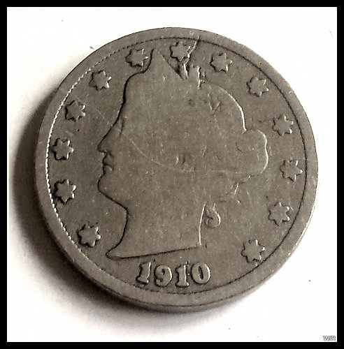 "1910 Liberty Head ""V"" Nickel"