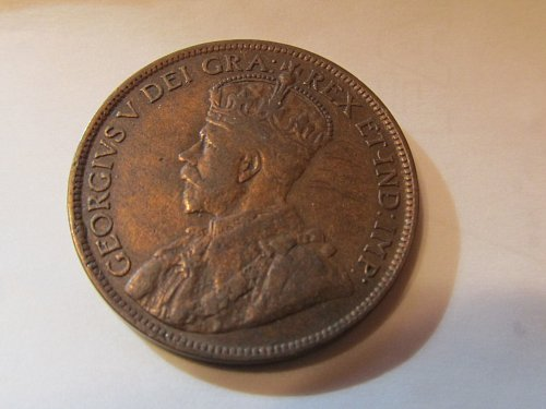 1915  Canada King George Cent In VG/F