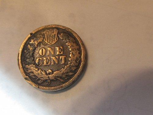 1862 Copper Nickel Indian Head Cent