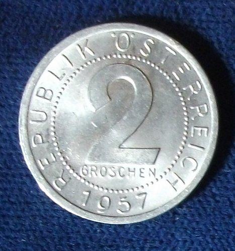 1957 Austria 2 Groschen UNC