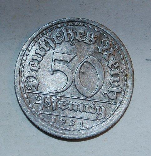 GERMANY - WEIMAR REPUBLIC 50 PFENNIG 1921 g