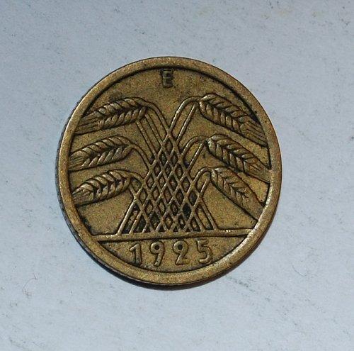 Germany - Weimar Republic 5 Reichspfennig 5 Pfennig 1925 e