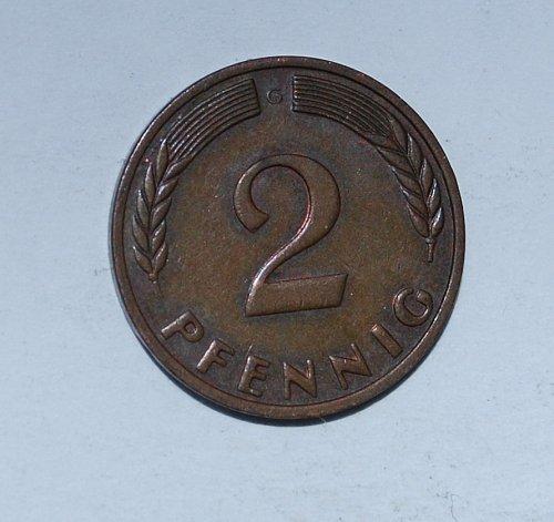 Germany - Federal Republic 2 Pfennig 1965 g