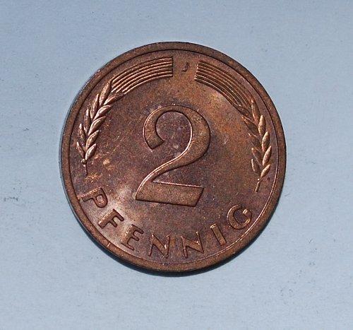 Germany - Federal Republic 2 Pfennig 1971 j