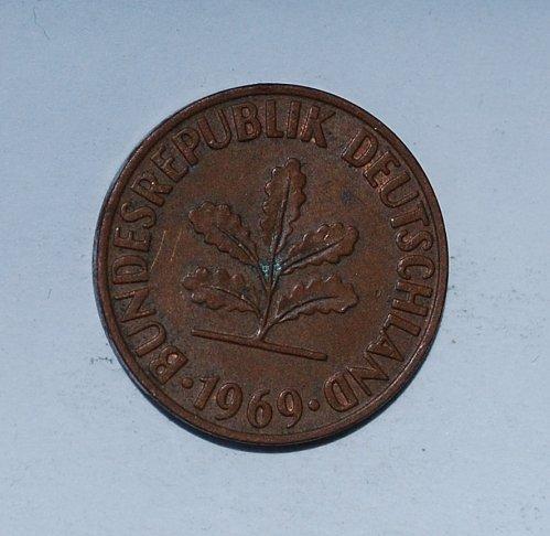 Germany - Federal Republic 2 Pfennig 1969 f