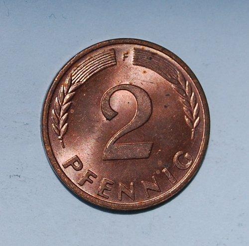 Germany - Federal Republic 2 Pfennig 1971 f