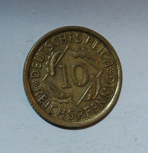 Germany - Weimar Republic 10 Reichspfennig 10 Pfennig 1932 d