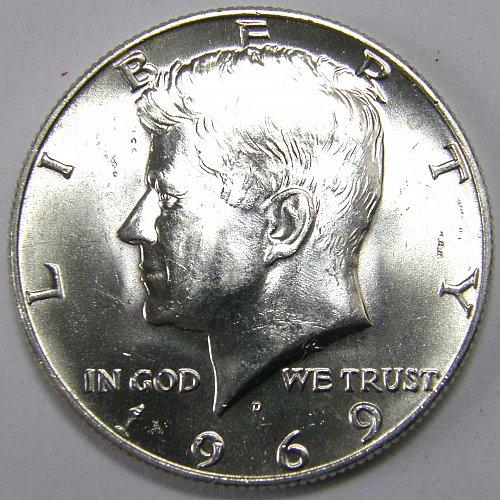 1969 D Kennedy Half Dollar #1