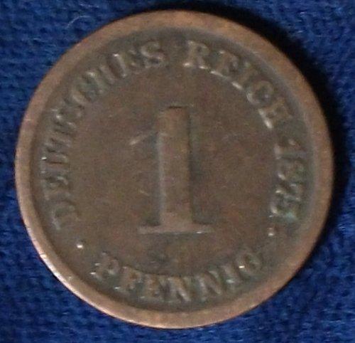 1875F Germany/Empire Pfennig Fine