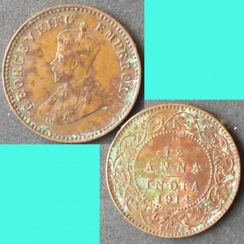 British India 1/12 Anna 1914  km 509