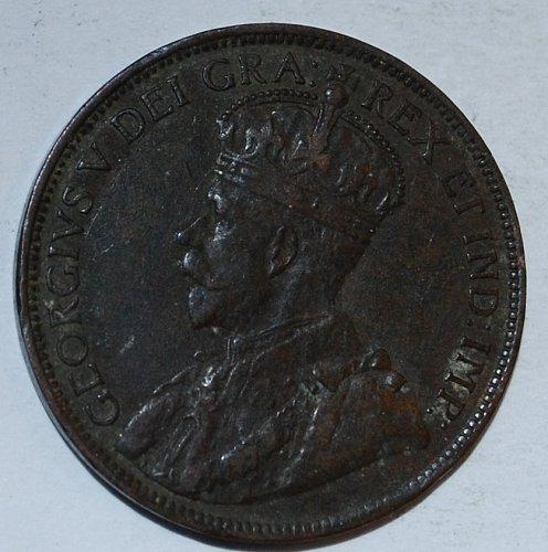 CANADA 1 Cent 1917