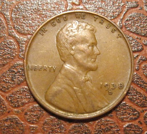 1938 D Lincoln Wheat Cent
