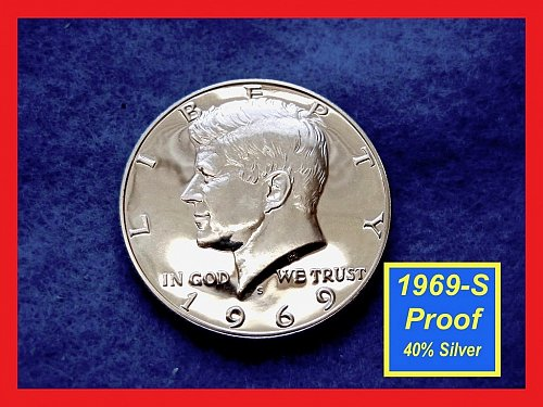 1969-S PROOF  Kennedy Half  ✬  ✬  40% Silver  (#1635a)a