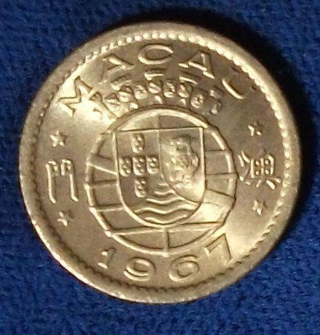 1967 Macao 5 Avos UNC