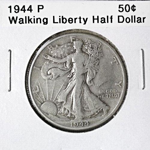 1944 P Walking Liberty Half Dollar - 6 Photos!
