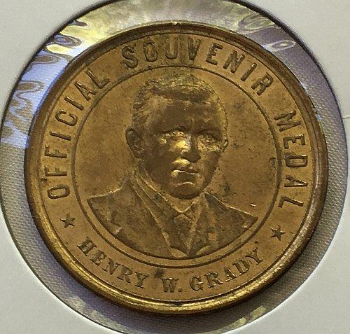 1895 Cotton States & International Expo Henry W. Grady Official Souvenir Medal