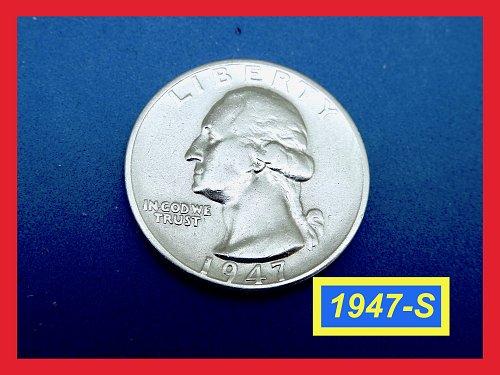 """1947-S   Washington Quarter ✬ """"XF-40""""   ✬★  (#2657)➧"""