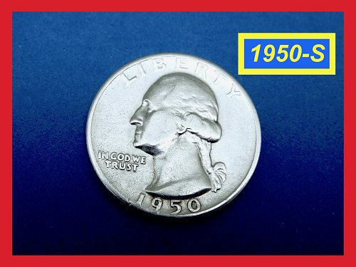 "1950-S   Washington Quarter ✬ ""VF-25""   ✬★  (#2658)➧"