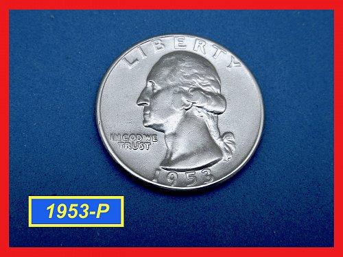 """1953-P   Washington Quarter ✬ """"XF-40""""   ✬  ✬   (#2653)➧"""