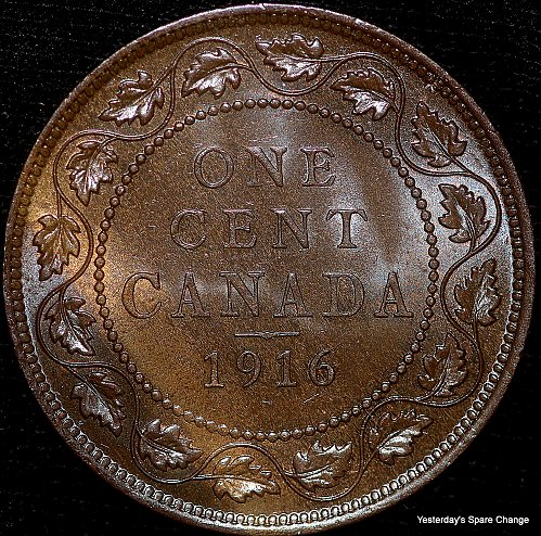 "1916 Choice High Grade Canada ""George VI"" Large Cent!!"