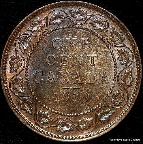 "1919 Choice High Grade Canada ""George VI"" Large Cent!!"