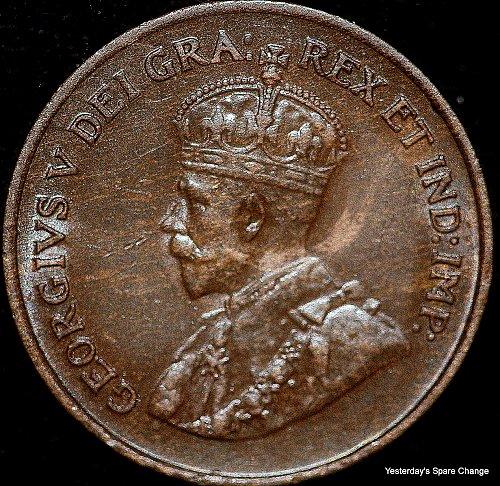 "1924 Choice High Grade  Canada  ""George VI""  KM-28 Semi Key-Date  Small Cent!!"