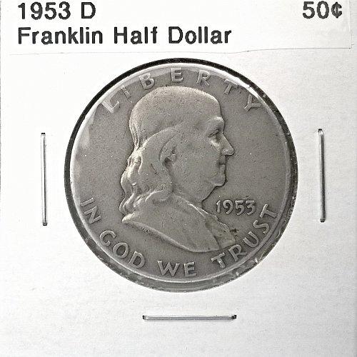 1953 D Franklin Half Dollar - 4 Photos!