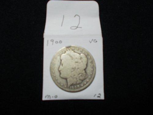 1900 MORGAN  O  90% SILVER COIN V/G  #12
