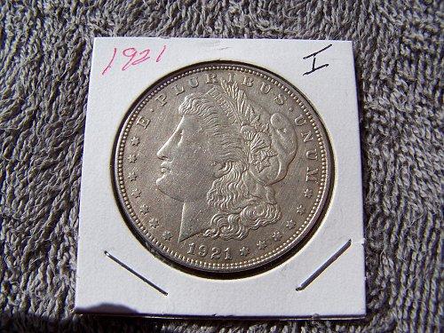 1921 P Silver Dollar