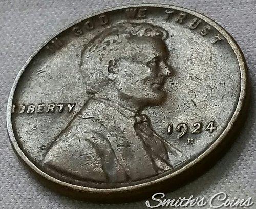 1924 D Lincoln Wheat Cent - Fine