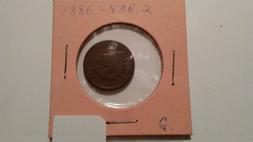1886 Indian Head Penny G, Variation 2