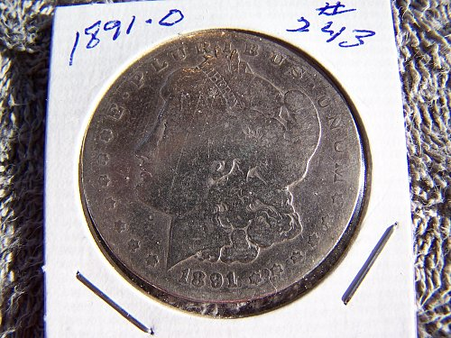 1891 O Morgan Silver Dollar