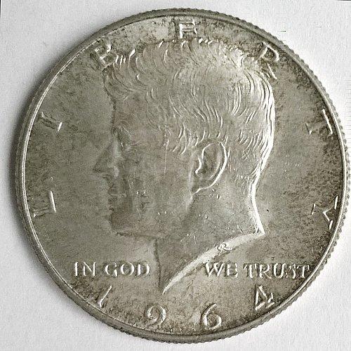 1964 P Kennedy Half Dollar - 6 Photos!