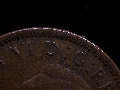 """1942 CANADA ONE CENT KING GEORGE V1  """"MINT ERROR""""  DIE CRACK"""