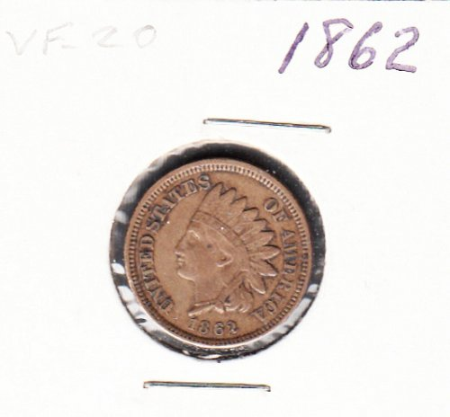 Indian Head  Cent  from  1862  / WM-50