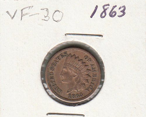 Indian Head  Cent  from  1863  / WM-51
