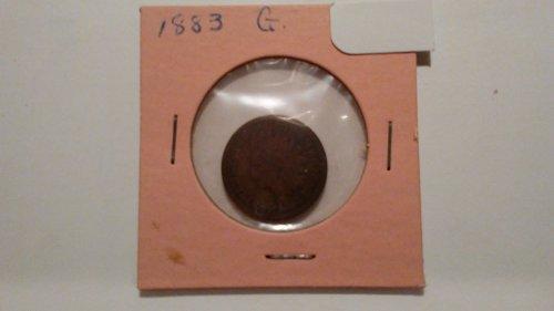 1883 Indian Head Penny, Good