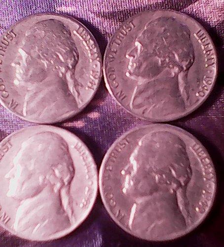 1940, 1941, 1942, 1946, 1947, 1948 & 1949 Jefferson Nickels, One Lot