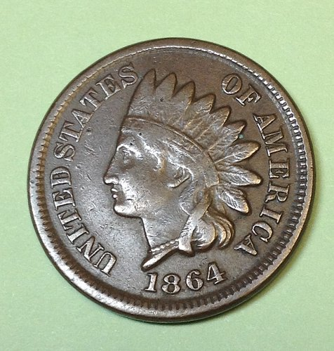 "Indian Head  Cent  from  1864:  No "" L ""     / WM-52"