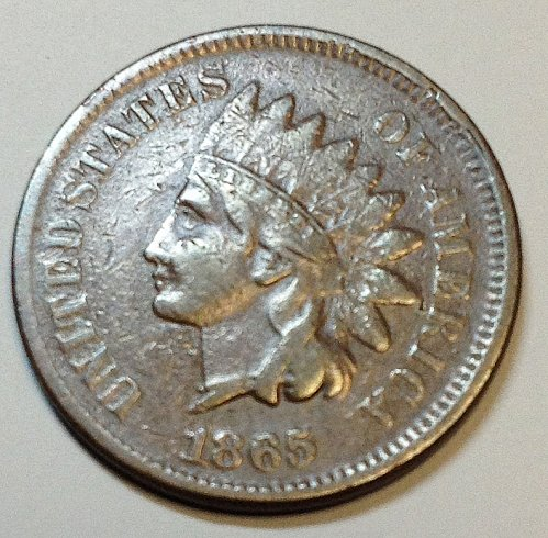Indian Head  Cent  from  1865     / WM-53