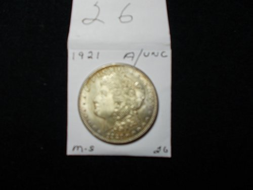 1921 S  PEACE 90% SILVER  DOLLAR. AWESOME A / U  #26