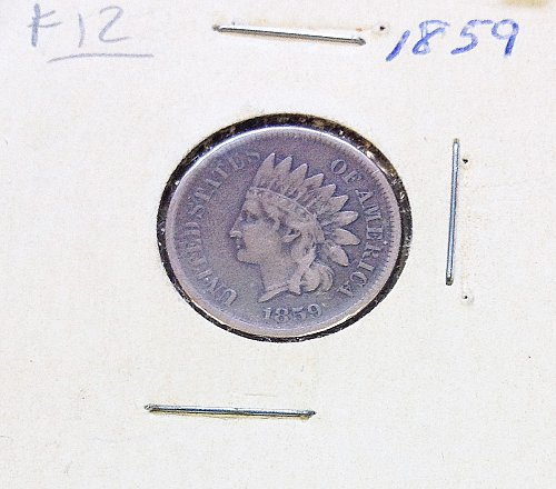 Indian Head  Cent  from  1859  / WM-37