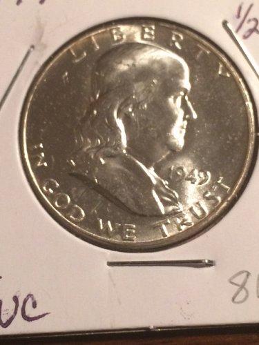 1949 P Franklin Half Dollars