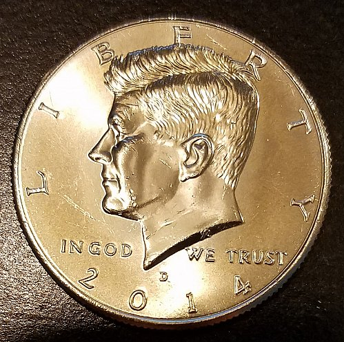 2014-D Kennedy Half Dollar - From US Mint Bag - Low Mintage - (7230)