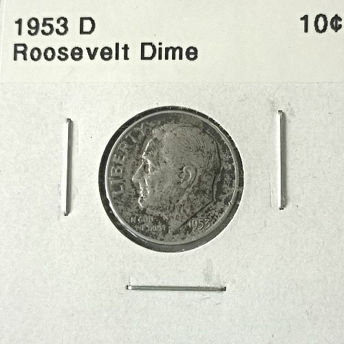 1953 D Roosevelt Dime - 4 Photos!