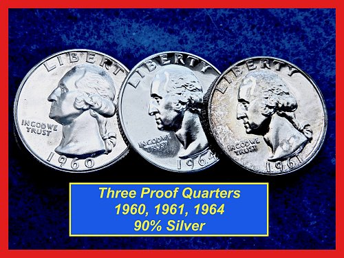 THREE  Washington Proofs  Quarter  ✬  Lower Grade   ✬  (#2630)➧