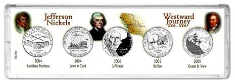Westward Journey 2004-P 2005-P and 2006-P 5-Coin Collector Set Philadelphia Mint